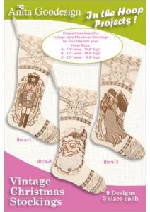 Anita Goodesign 29AGPJ Vintage Christmas Stockings Multi-format Embroidery Design Pack