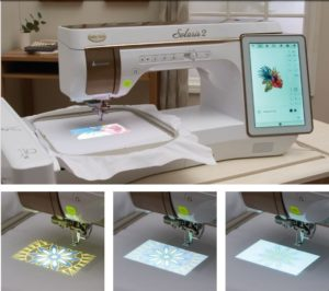 Baby Lock Solaris 2 makes perfect embroidery placement not just possible, but easy