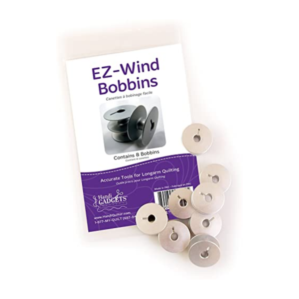 HandiQuilter QM00237-1_EZ-Wind Slotted M-Class Bobbins for Longarm Machines (Package of 8) Product Image
