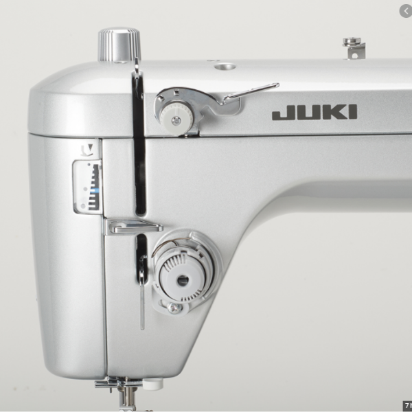 Juki TL2020 detailed image of knobs and lever adjustment