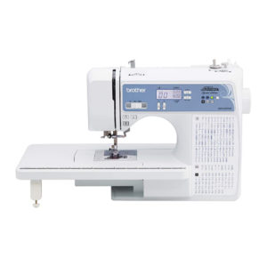 Brother XR9550PRW sewing machine with extension table
