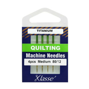 Klasse Titanium Quilting Needles size 80/12 4 pieces main product image